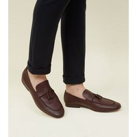 Burgundy Tassel Trim Loafers New Look