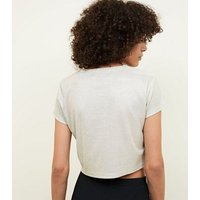 Cameo Rose Gold Glitter Crop Top New Look