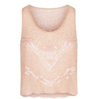 Tokyo Doll Pale Pink Hand Beaded Sequin Mesh Cami New Look