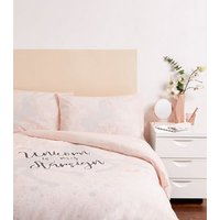 Pale Pink Unicorn Cotton Single Duvet Set New Look