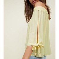 apricot-yellow-34-tie-sleeve-bardot-top-new-look