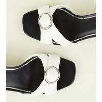 Wide Fit Monochrome Strappy Buckle Sandals New Look