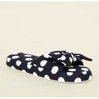 Back Polka Dot Slider Slippers New Look