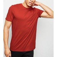 Mens Orange Crew Neck T-Shirt New Look