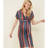 Maternity Multicoloured Stripe Bodycon Dress New Look