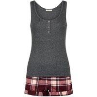 Red Check Shorts Pyjama Set New Look
