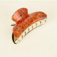 Orange Ditsy Floral Bulldog Clip New Look