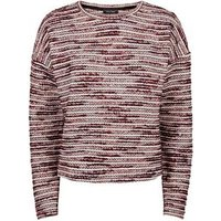 Red Boucle and Metallic Soft Knit Jumper New Look
