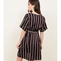 Maternity-Stripe-Wrap-Front-Tie-Waist-Dress-New-Look