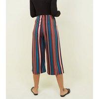 Petite Multi Stripe Scuba Cropped Trousers New Look