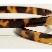 Brown Tortoiseshell Print Hoops New Look
