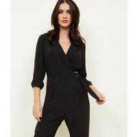 d6b9f3fe07 Save 67% - Black Tuxedo Ring Belt Jumpsuit New Look