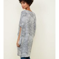 Apricot Cream Snake Print Tunic Top New Look