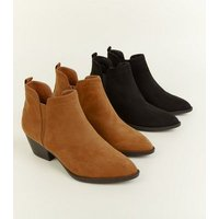 Tan Pointed Western Chelsea Boots New Look