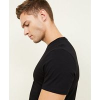 10 Pack Black Crew Neck T-Shirts New Look