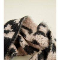 Mink Leopard Print Snood New Look
