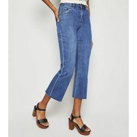 Blue Rinse Wash Kick Flare Jeans New Look