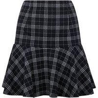 Cameo Rose Black Grid Check Frill Skirt New Look