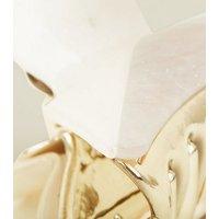 Pale Pink Split Marble Resin Bulldog Clip New Look