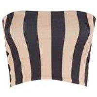 Black Stripe Stretch Bandeau Top New Look