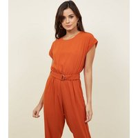 Orange D-Ring Belted Jumpsuit New Look