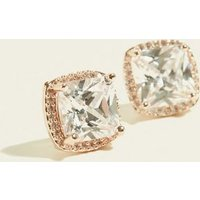 Rose Gold Cubic Zirconia Chunky Stud Earrings New Look