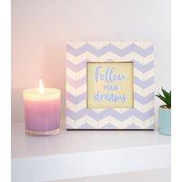 Lilac Dreams Slogan Zig Zag Photo Frame New Look