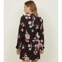 AX-Paris-Black-Floral-Frill-Yoke-Dress-New-Look