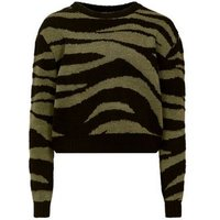 Girls Green Zebra Print Jumper New Look