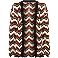 Cameo Rose White Zig Zag Knit Cardigan New Look