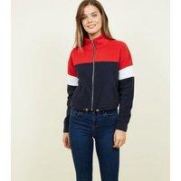 Blue Colour Block Fleece Jacket New Look