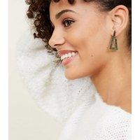3 Pack Multi Colour Triangle Hoop Earrings New Look
