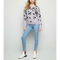 Tall Pale Blue Bleached Jeggings New Look