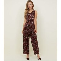 Cameo Rose Dark Brown Leopard Print Jumpsuit New Look
