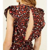 cameo-rose-dark-brown-leopard-print-frill-crop-top-new-look