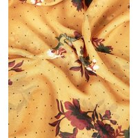 Mustard Floral Lightweight Longline Scarf New Look