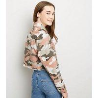 Girls Pink Camo Utility Jacket New Look