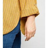 Curves Mustard Stripe Overhead Shirt New Look