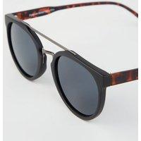 Black Brow Bar Sunglasses New Look