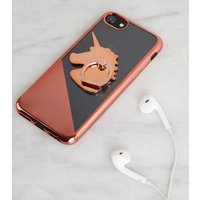 Rose Gold Unicorn Stick On Phone Case Ring Holder New Look