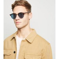 Brown Faux Tortoiseshell Retro Sunglasses New Look
