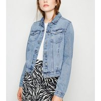 Bright Blue Boxy Denim Jacket New Look