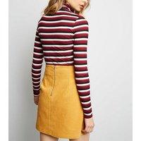 Yellow Welt Pocket Corduroy Skirt New Look