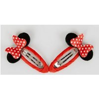 Red Disney Minnie Mouse Snap Clips New Look