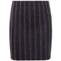 Girls Rainbow Glitter Stripe Tube Skirt New Look