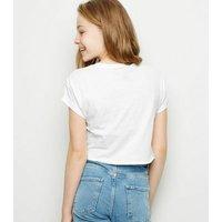 Girls White Logo Britney Spears T-Shirt New Look
