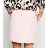 Pale Pink Corduroy Pocket Side Mini Skirt New Look