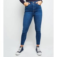 Petite Blue High Rise Lift and Shape Skinny Jeans New Look