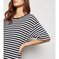 Noisy May Black Stripe Midi Dress New Look