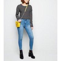 black-button-shoulder-breton-stripe-top-new-look